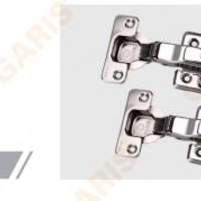 Bản lề Inox 304, 2 chiều, giảm chấn, tháo lắp nhanh, đế cam êm tay khi lắp đặt