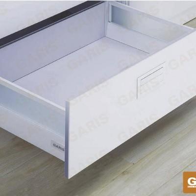 Bộ ray hộp thành cao 2 mặt kèm vách kính GT12.50