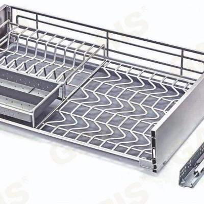 Giá bát đĩa, thìa đũa đa năng, nan hình oval đặc biệt, bề mặt điện hóa cao cấp, dùng cho cánh kéo - MV series