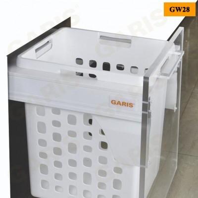 Giỏ để đồ giặt đơn - 48L, ray hộp giảm chấn